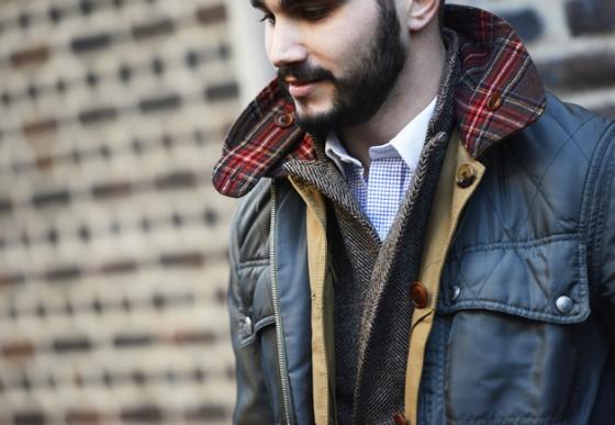 manteau cuir piqué