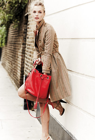 Trench coats key trends